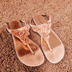 Rampage Pink Flower Sandals!